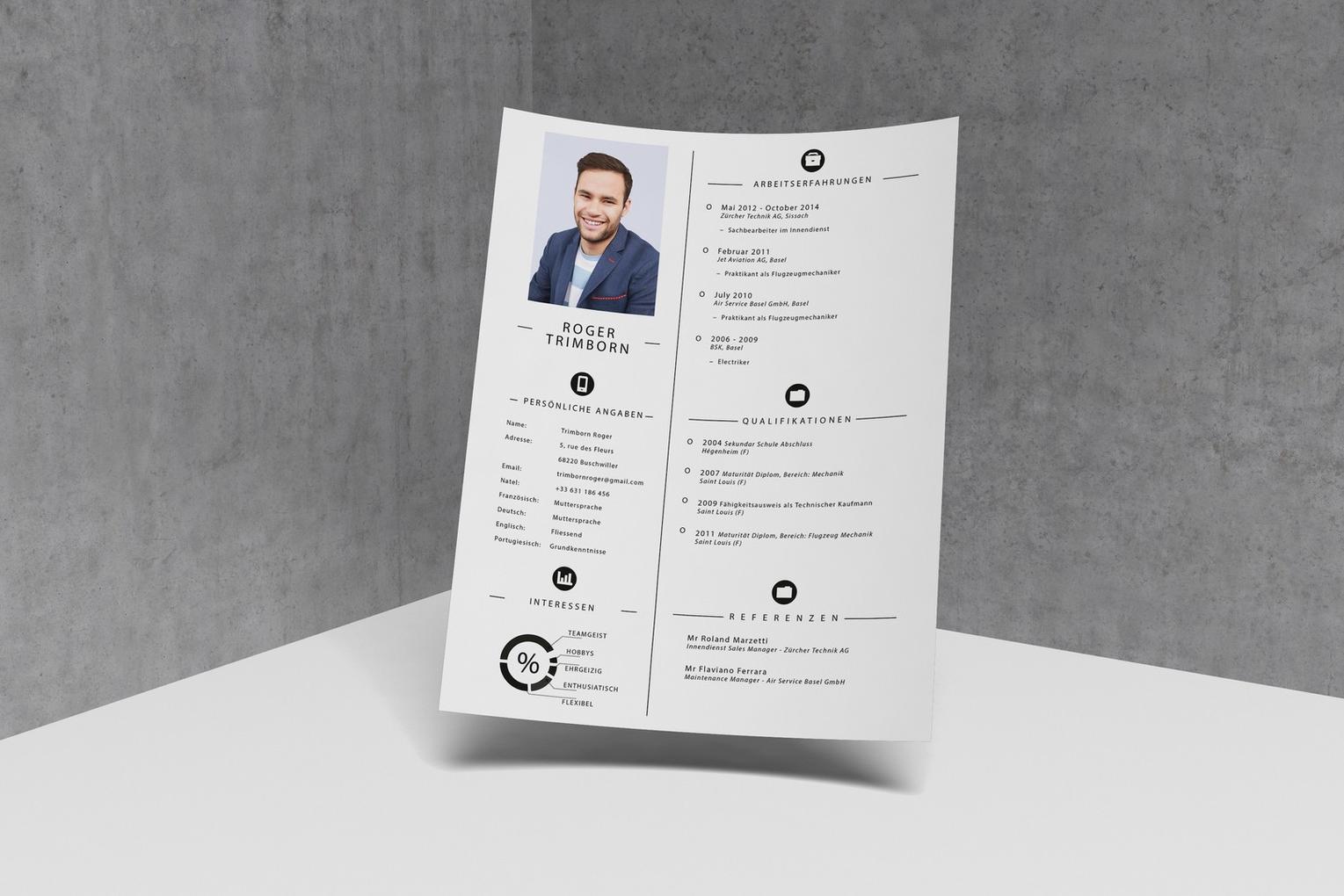 CV pour un client privé