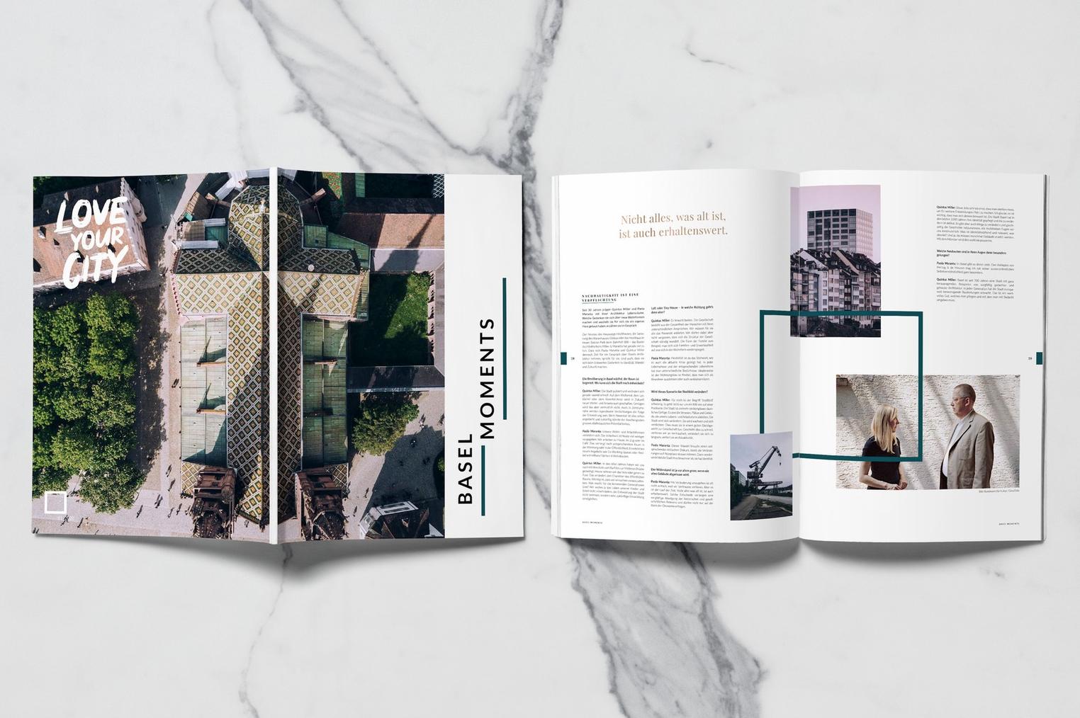 """Magazine """"Moments"""" pour Basellive de Bâle"""