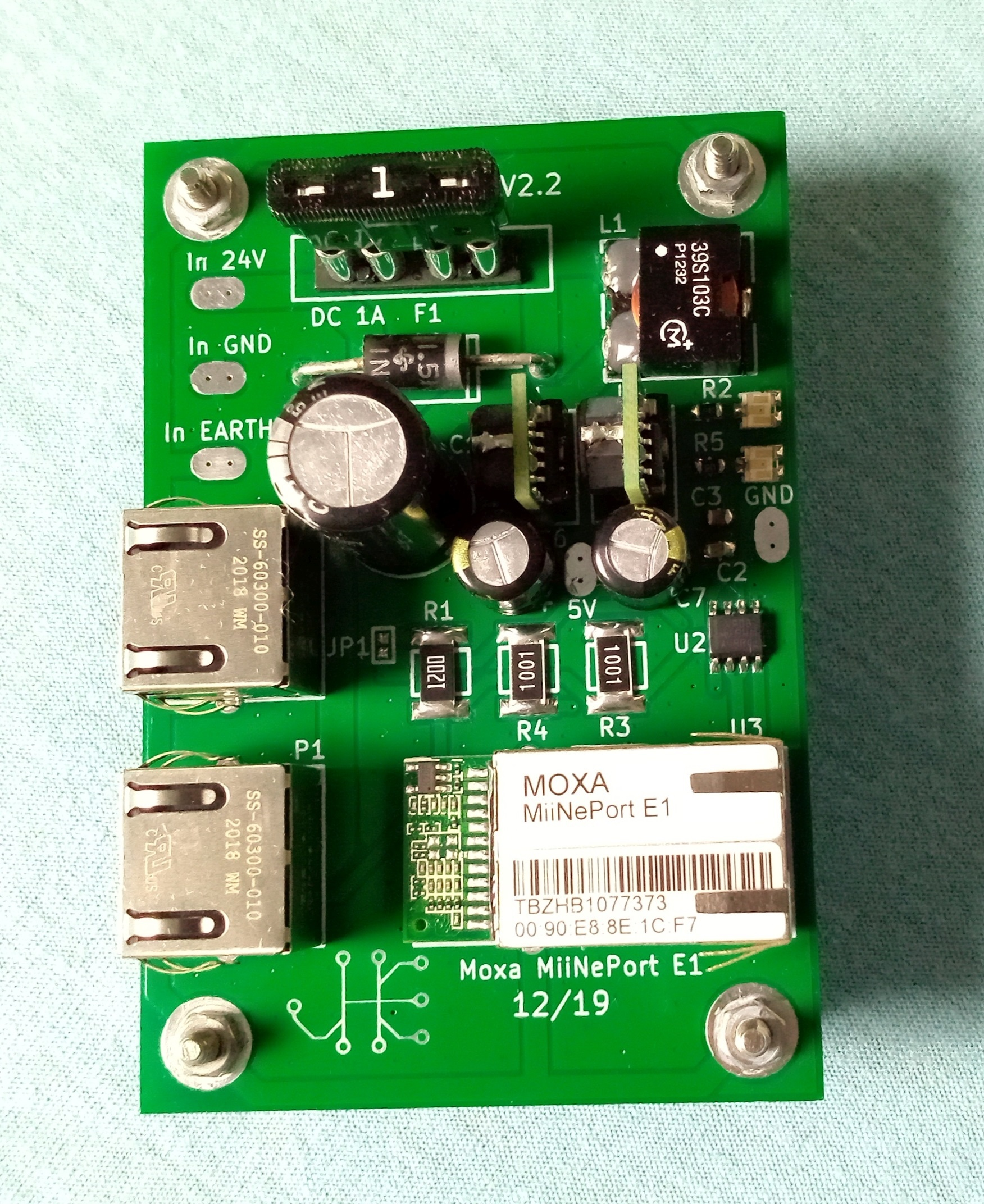 COM over LAN to RS485 24VDC powered Fixmebus