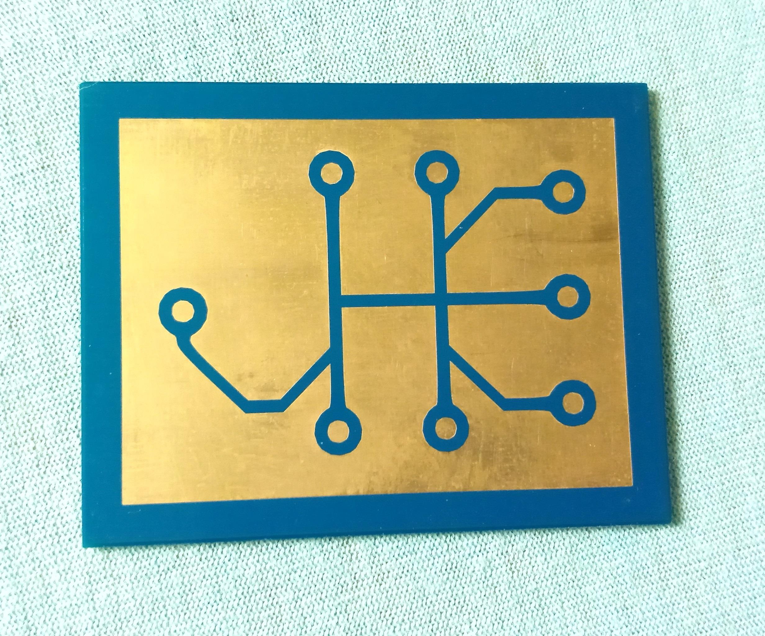 """""""Joël Huser Électronique"""" logo PCB"""