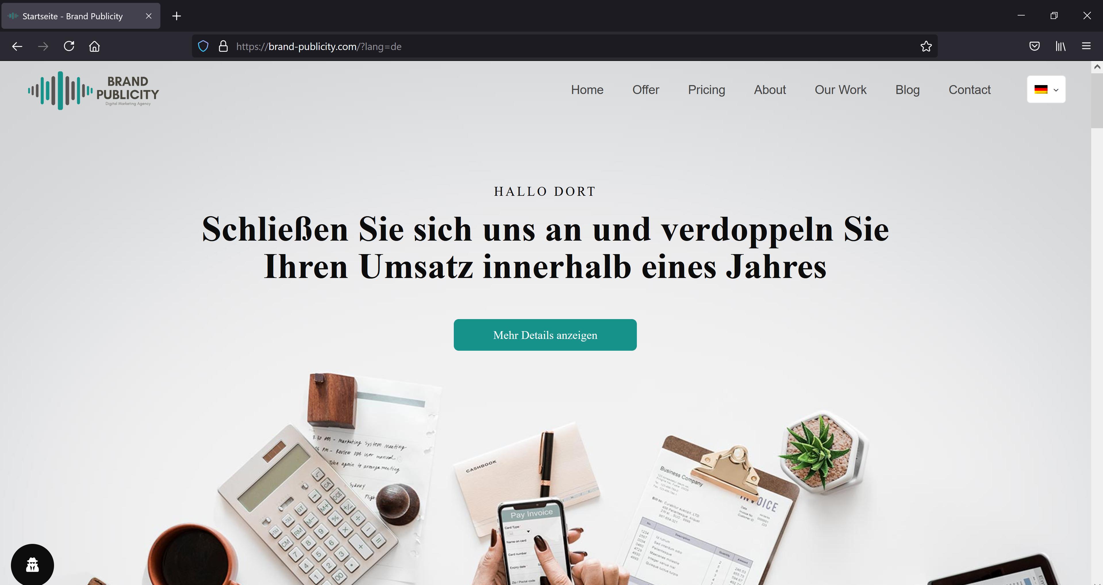 Brand Publicity WordPress