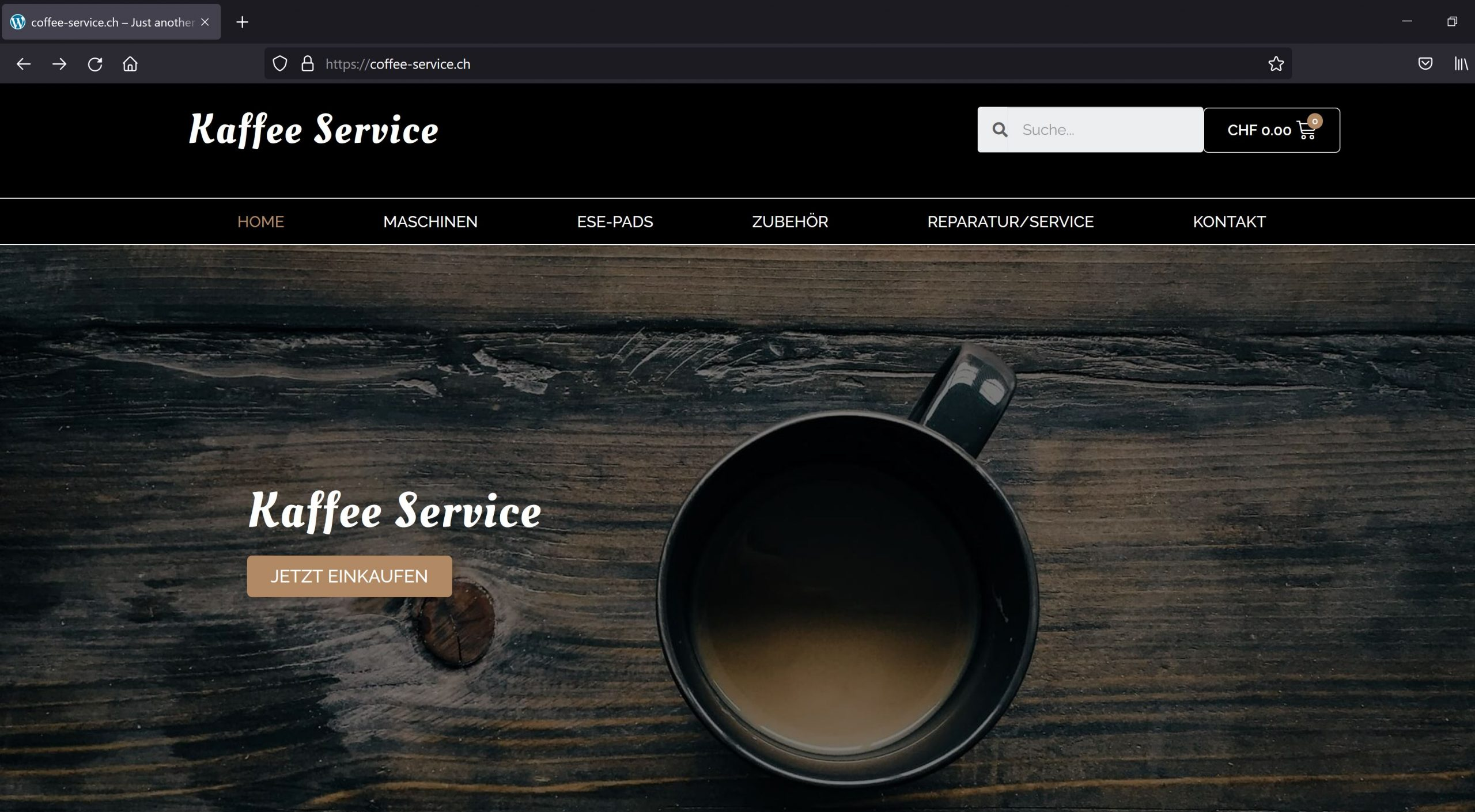 Coffee Service CH WooCommerce